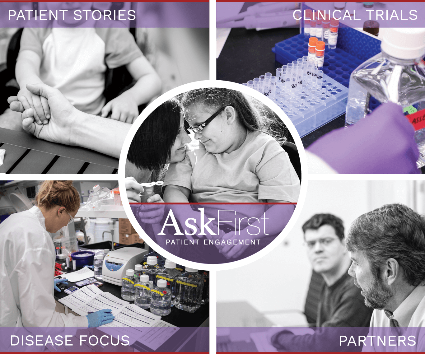 AskFirst™ Patient Engagement Program works with patients and advocacy partners to ensure patients have access to the most up to date information on clinical trials, partners, diseases that AskBio focuses on and real patient stories.